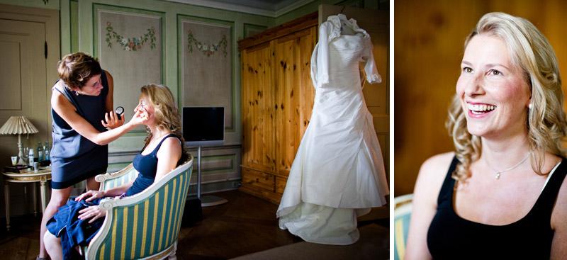 Uta Stabler beim Hochzeitsstyling